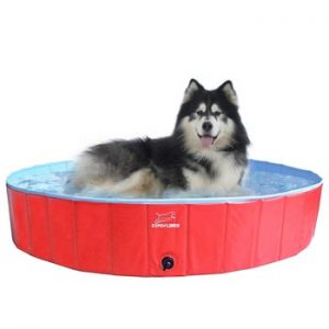 EXPAWLORER Foldable Dog Swimming Pool